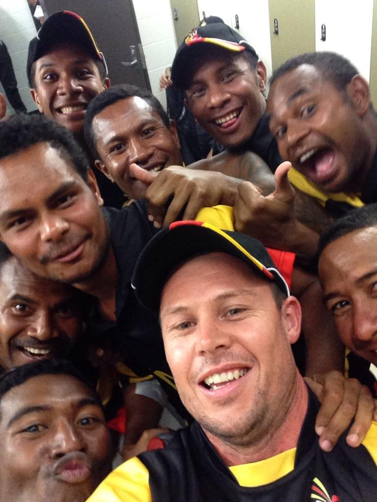 Yesssssss 2 from 2 for @Cricket_PNG bit of fun now in the dressing room to celebrate. http://t.co/bh9nk3fjpO