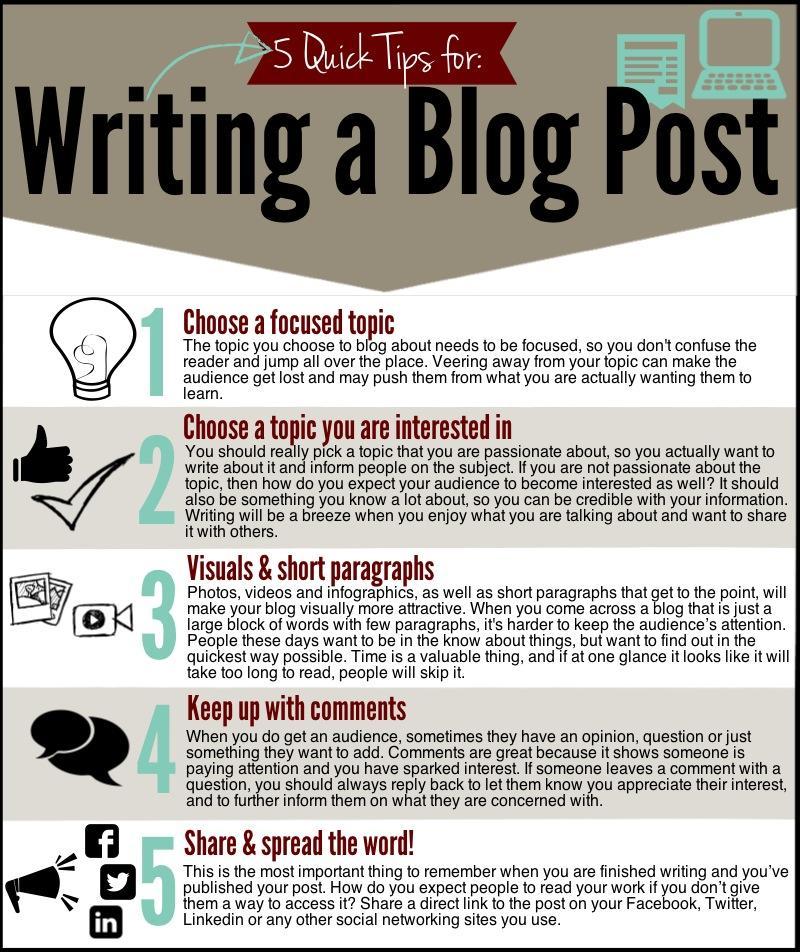 "5 Quick Tips for Blog Posts #aussieEd http://t.co/DOmh0rYRYo"" via @klaris1904 @ceo_teacher #austl #tlchat"