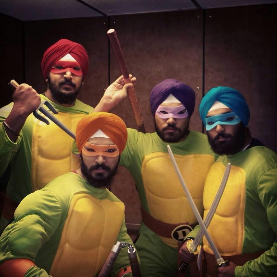 "Last year ""Teleturbies"" and this year ""Teenage Mutant Ninja Turbans"" http://t.co/ZIZQV6piiy"