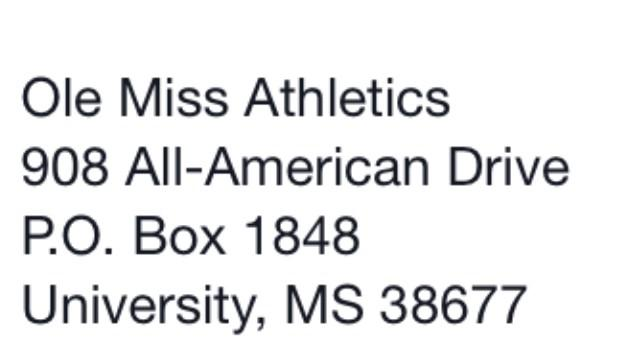Again , here's where you can send cards to injured  #olemiss #Rebel, Laquon Treadwell: http://t.co/Ilzyj5WigZ