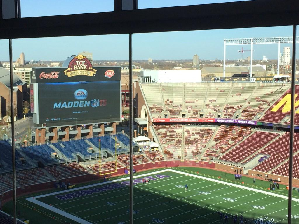 Someone is playing Madden here on the big screen at TCF. So jealous. http://t.co/NEIa2VWJqU