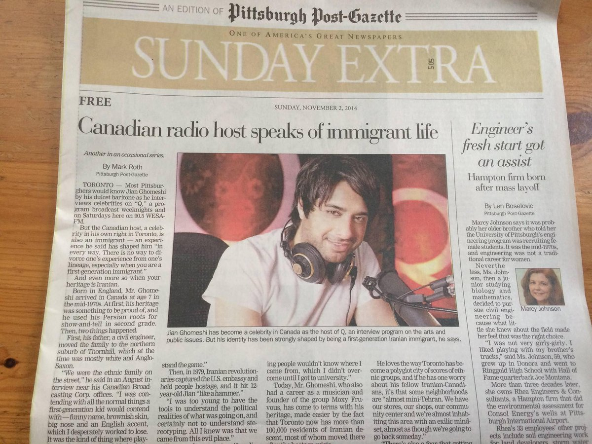 OMG this is today's Pittsburgh Post-Gazette. They clearly don't know he's been fired, or why. #JianGhomeshi http://t.co/L4ESj31RSW