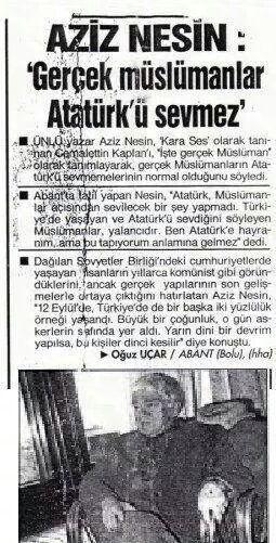 Mihriban Türk On Twitter Aziz Nesin Atatürk Müslümanlar