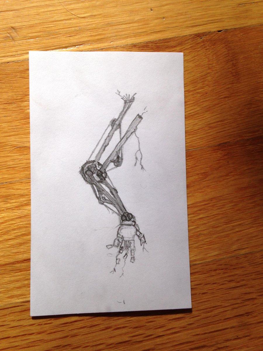 Can't stop doodling #BrokenRobot parts. http://t.co/1lTbCvuN9j
