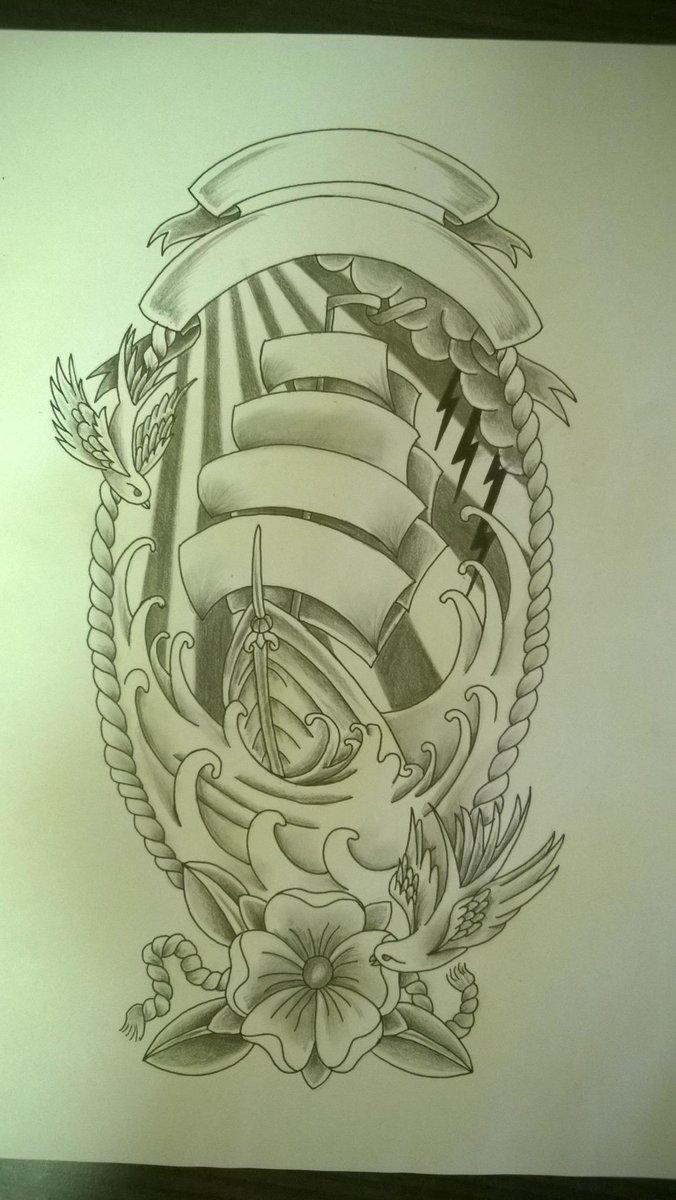 Uzivatel The Tattooexperience Na Twitteru Bateau Voilier Dessin Draw Tatouage Tattoo Ink Art Paris Http T Co 6txcntr1z6