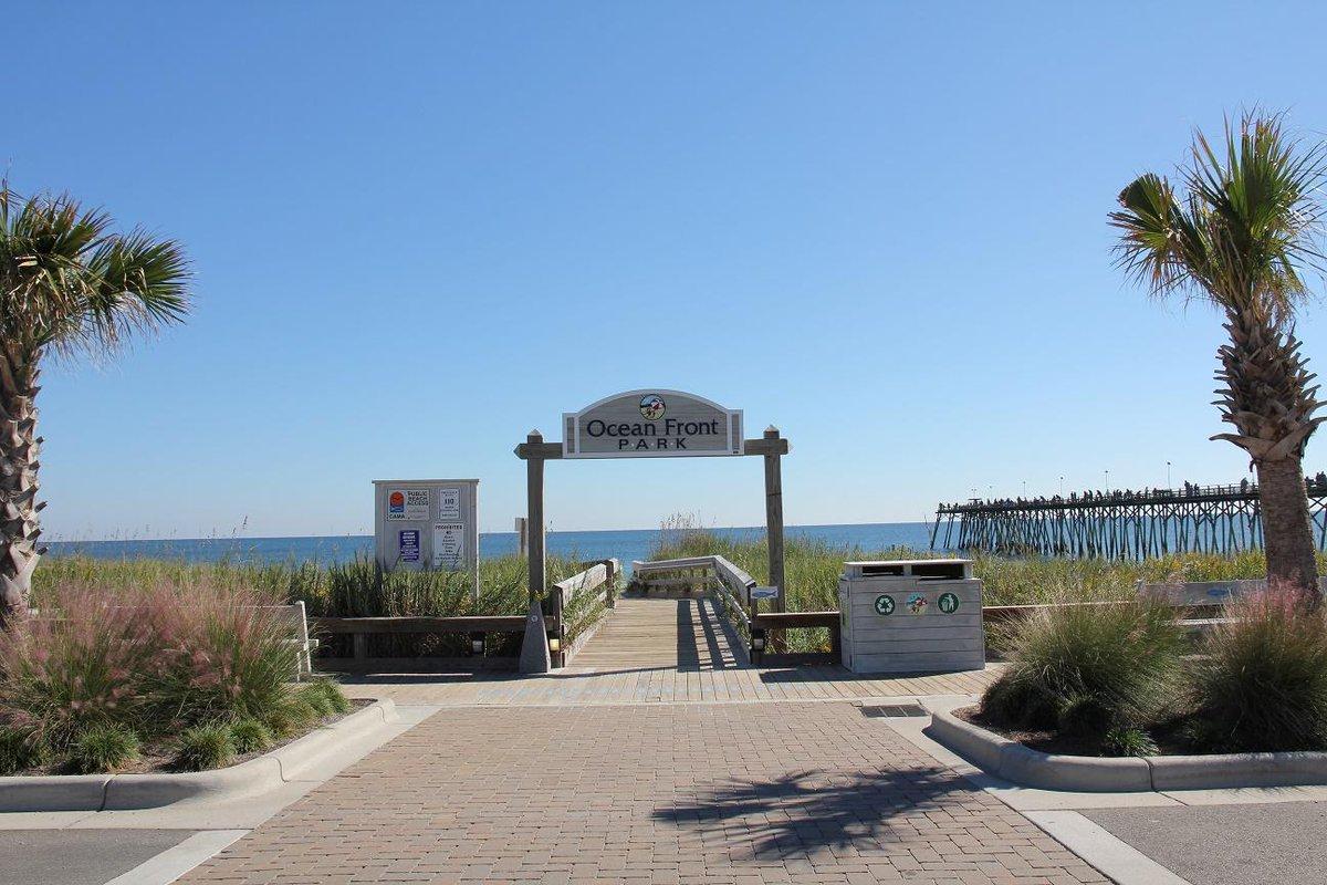Wilmington Nc On Twitter Oceanfront Park 105 Atlantic Ave Kure Beach Kb S Largest Green E Open Air Pavilion Rain Gardens
