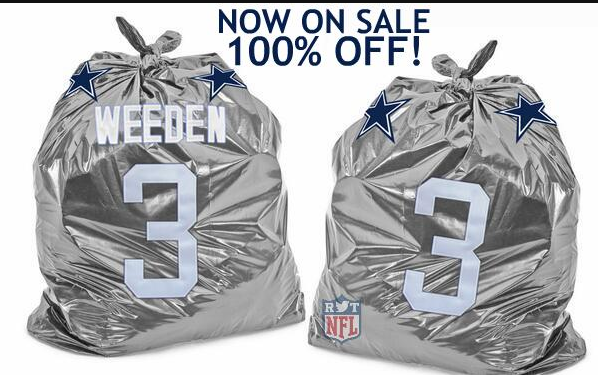 Get your Brandon Weeden jersey folks. 100% Off. #cowboys http://t.co/5XeevEiK96