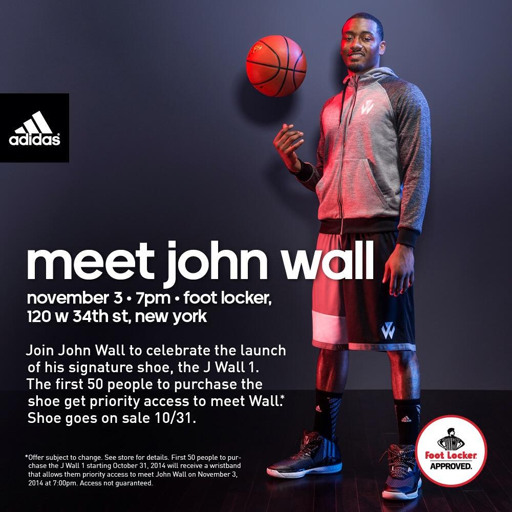 Internets! Meet @JohnWall tomorrow 7-8pm at 34th Street #NYC @FootLocker! Celebrate The Release Of The #JWall1 - http://t.co/nkjnynCpWl