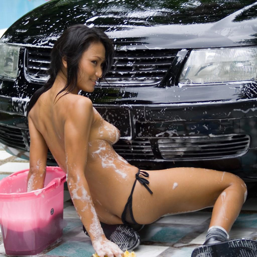 Japanese car wash girls porn #15