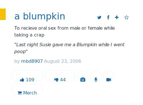 Blumpkin urban dictionary