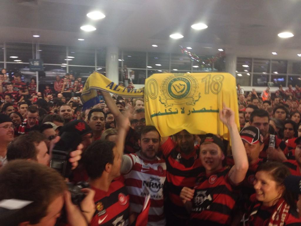 How good is this: fans of Al-Hilal's rival, Al-Nassr, have turned up to cheer for @wswanderersfc! @SMHsport @WSWKSA http://t.co/Oh8ryRTPal