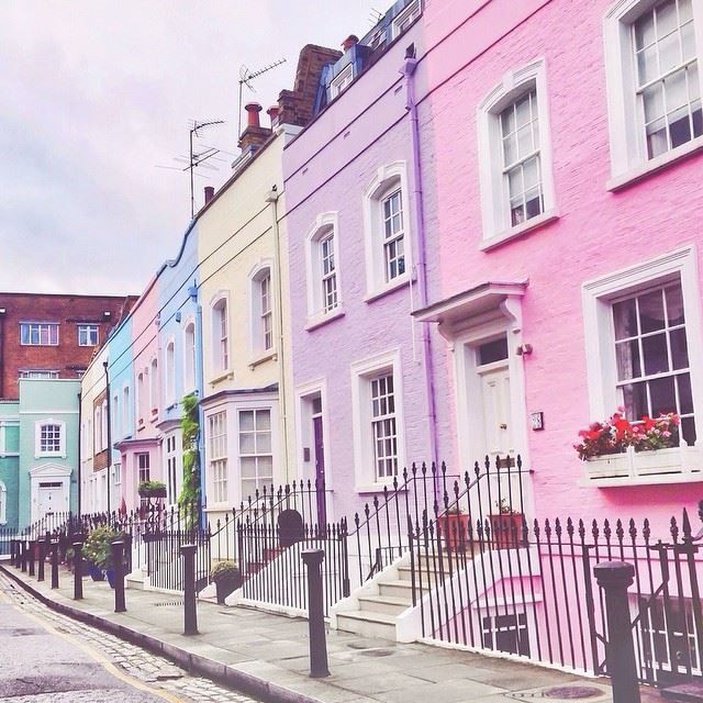 great britain on twitter pretty pastel houses line the
