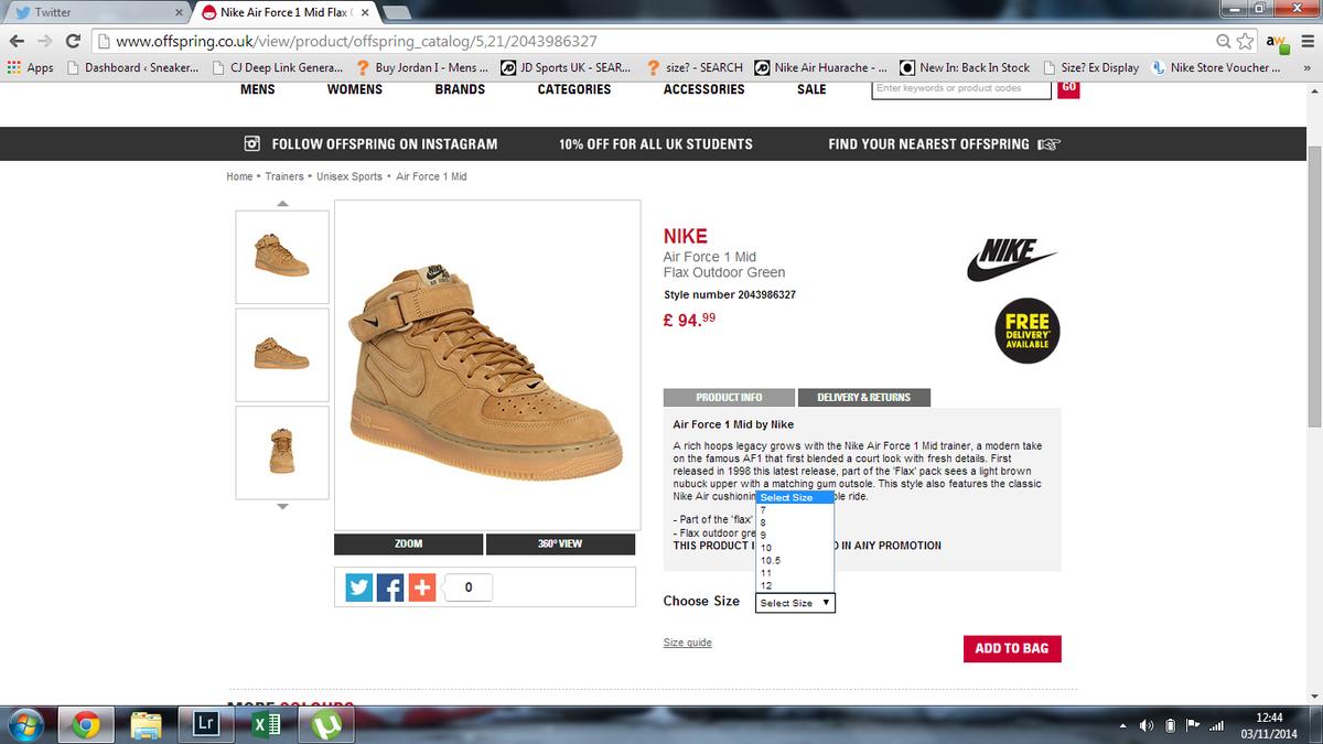 Nike Force 1 Mid Wheat