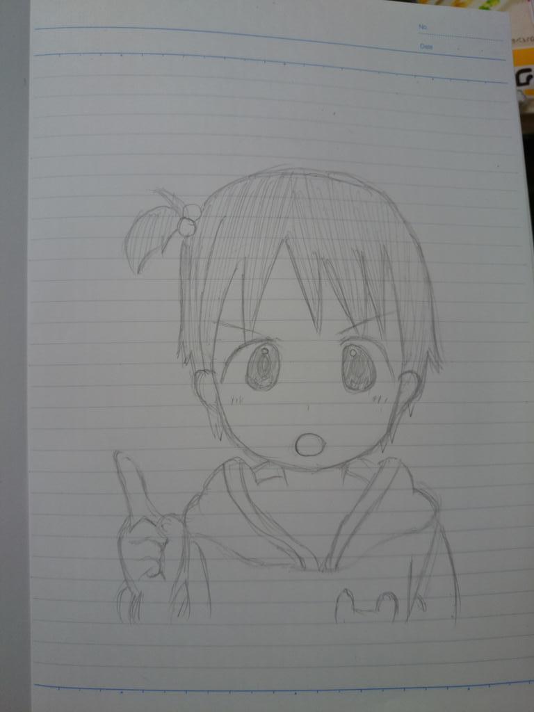 暇だったからサクッとちぃちゃん描いてみた http://t.co/EjhzZSsmHt
