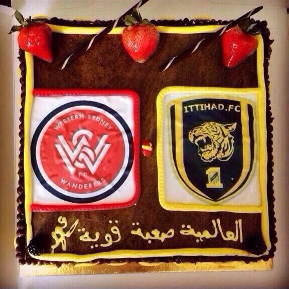How fans of Al-Nassr, Al-Ahli, Al-Shabab & Al-Ittihad celebrated the @wswanderersfc win over their hated rival: cake http://t.co/3id6LhgVkB
