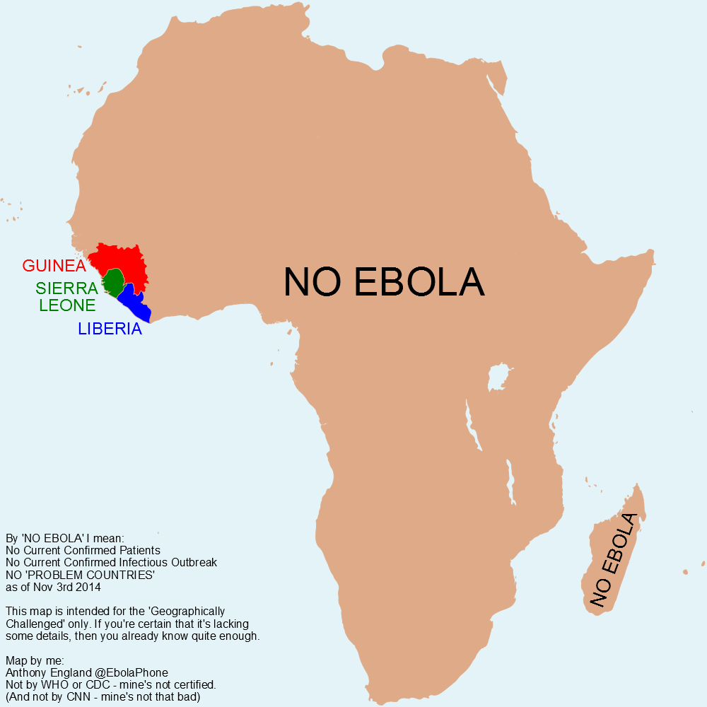 Anthony England On Twitter Ebola Map Of Africa For The