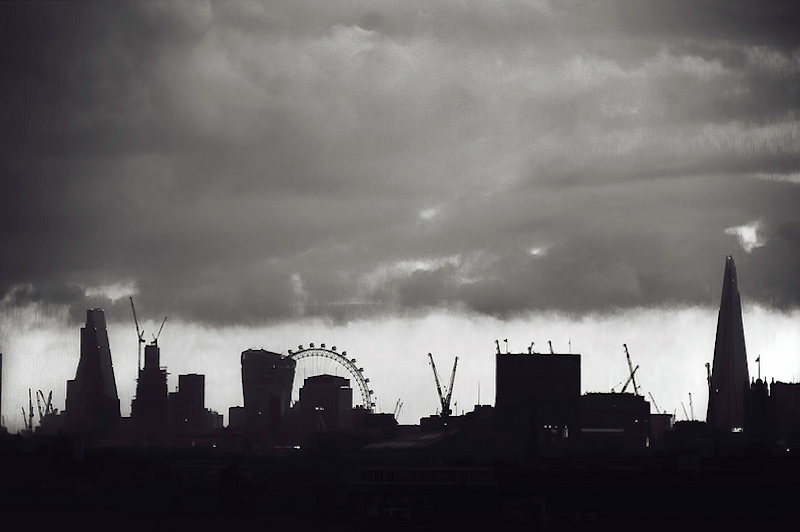 """Londonist on Twitter: """"Black and white London skyline, by ... 