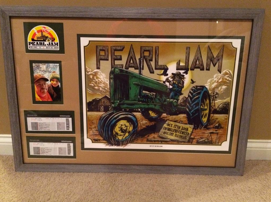 Pearl Jam On Twitter Now Thats How You Frame A Poster Beautiful