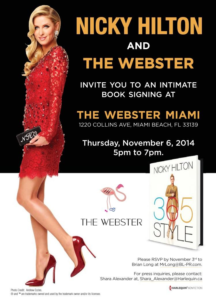 Please come out & support the #Fabulous @NickyHilton at my favorite store @thewebstermiami this week!  Xoxo http://t.co/ezWrWWnOmr