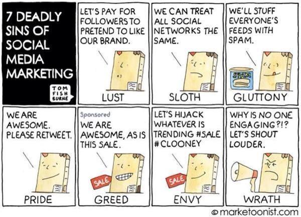 The Seven Deadly Sins of Social Media Marketing http://t.co/00h9qYACfA