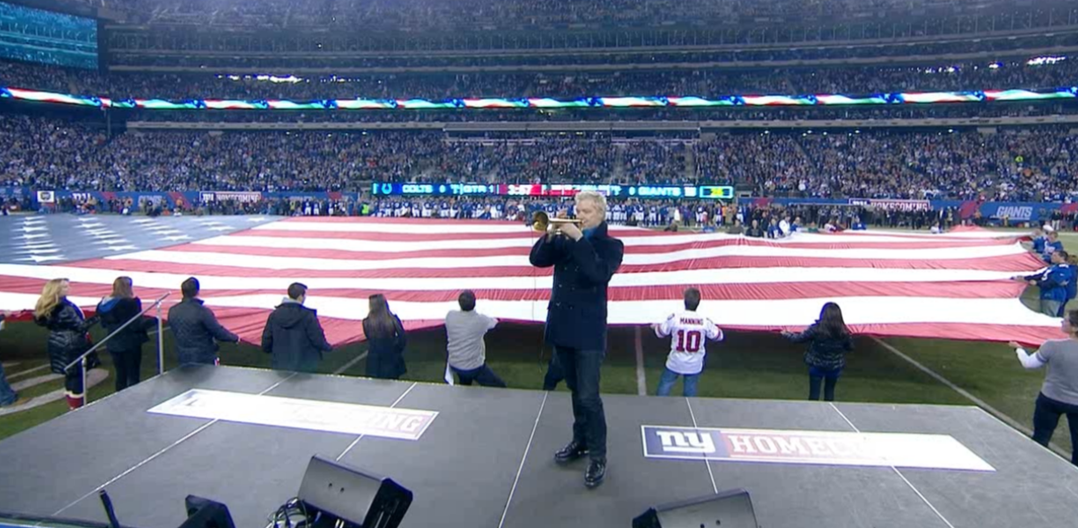 Chris Botti's National Anthem rendition on Monday brought Reggie Wayne to tears.