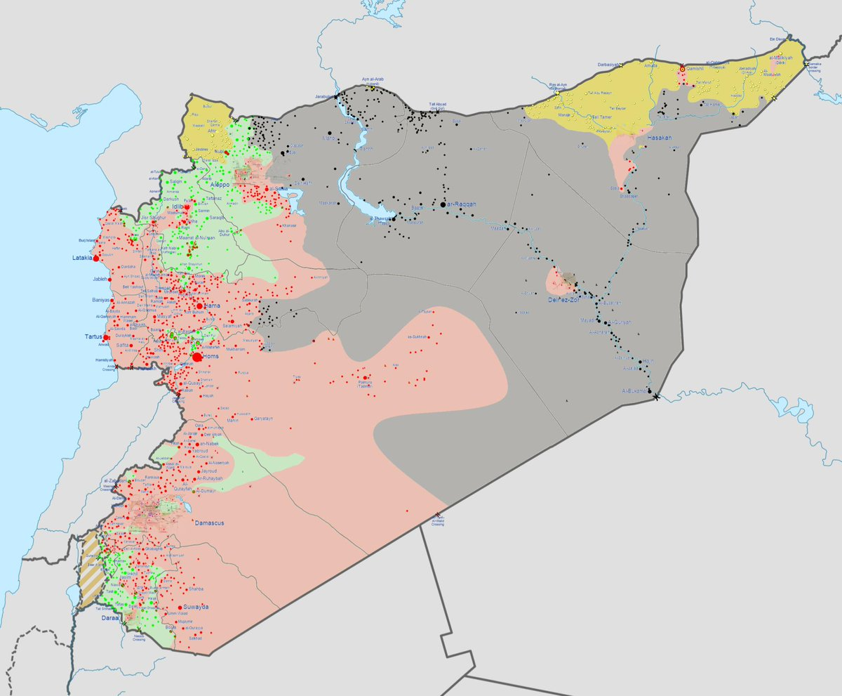 Картинки по запросу syrian civil war map
