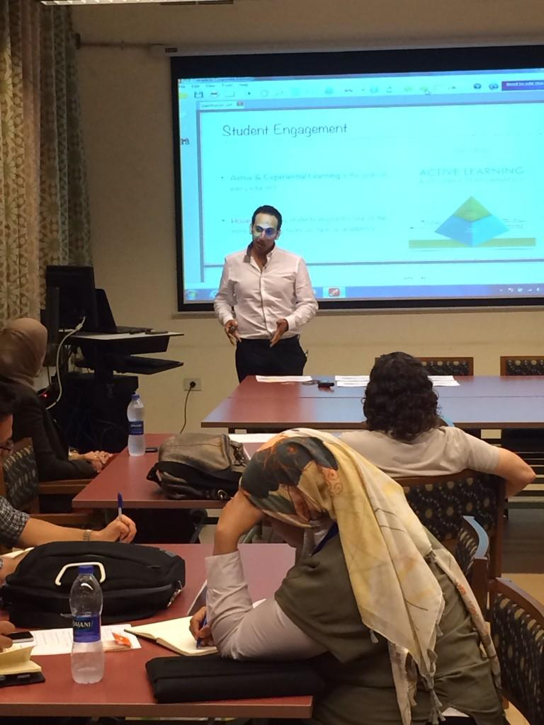 "Ongoing now: ""Gamifying your Classroom"", a workshop by the facilitator Fady M. Morcos #AUC http://t.co/n3MnbB7ent"