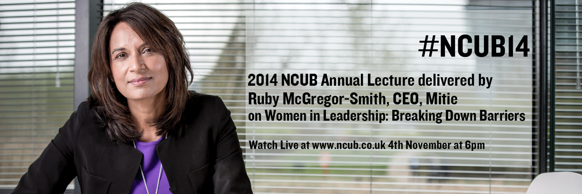 Thumbnail for #NCUB14 Annual Lecture given by Ruby McGregor-Smith