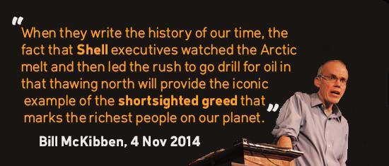.@billmckibben on Shell #CHclimate sponsor. #Arctic drilling + climate action = incompatible! http://t.co/QeSQUBQ4em http://t.co/RWjPU8VJdX