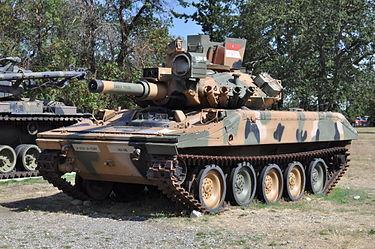 M551シェリダン アルミ合金で戦車とか名乗って恥ずかしくないの?まあ空挺戦車だし多少はね?152mmガンランチャーから対戦車ミサイルが撃てることで火力をカバーできる予定だったが結果としてコンセプトそのものが糞という結論へ。チーン