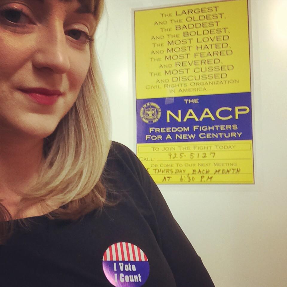 Voted now helping voters from the Greater Indianapolis @NAACP office. #iVote #Election2014 @MoralMondayIN http://t.co/nP3Y4yrU2G