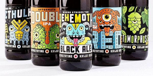 """Devastatingly Good"" Illustrations for Kaiju! Beer http://t.co/duUdgfQXEf @mikeyburton @KaijuBeer http://t.co/F8pwQXxHrA"