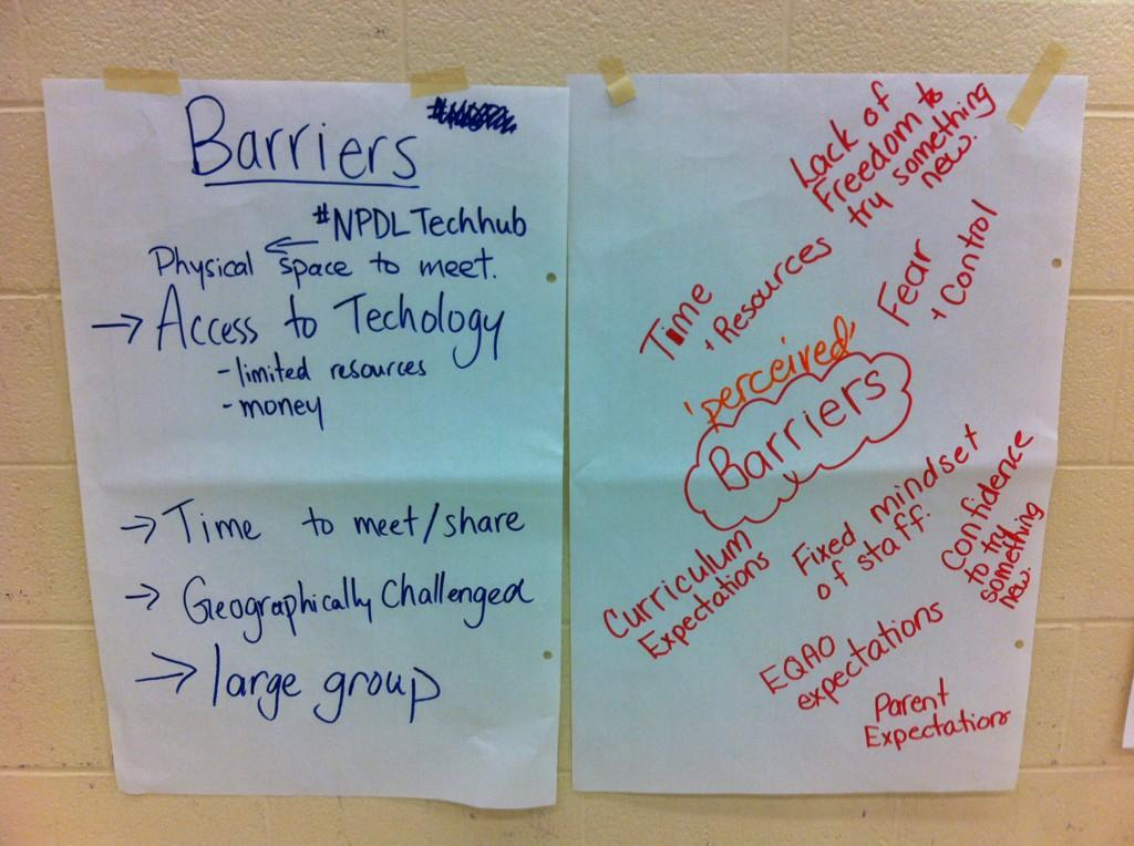 #NPDL  #SCDSB  @pmillerscdsb @SCDSB_Schools We are barrier busters  Some perceived barriers educators face. http://t.co/GT7Fk7fw0U