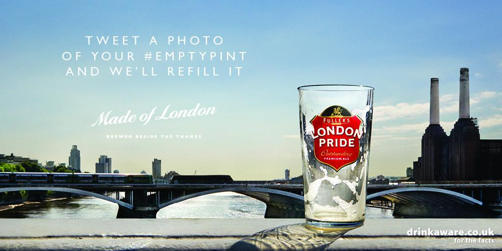 It's our round. Tweet us your #EmptyPint photo and we'll refill your glass, free. http://t.co/0jn38pNSVx http://t.co/zJ5nAsNZol