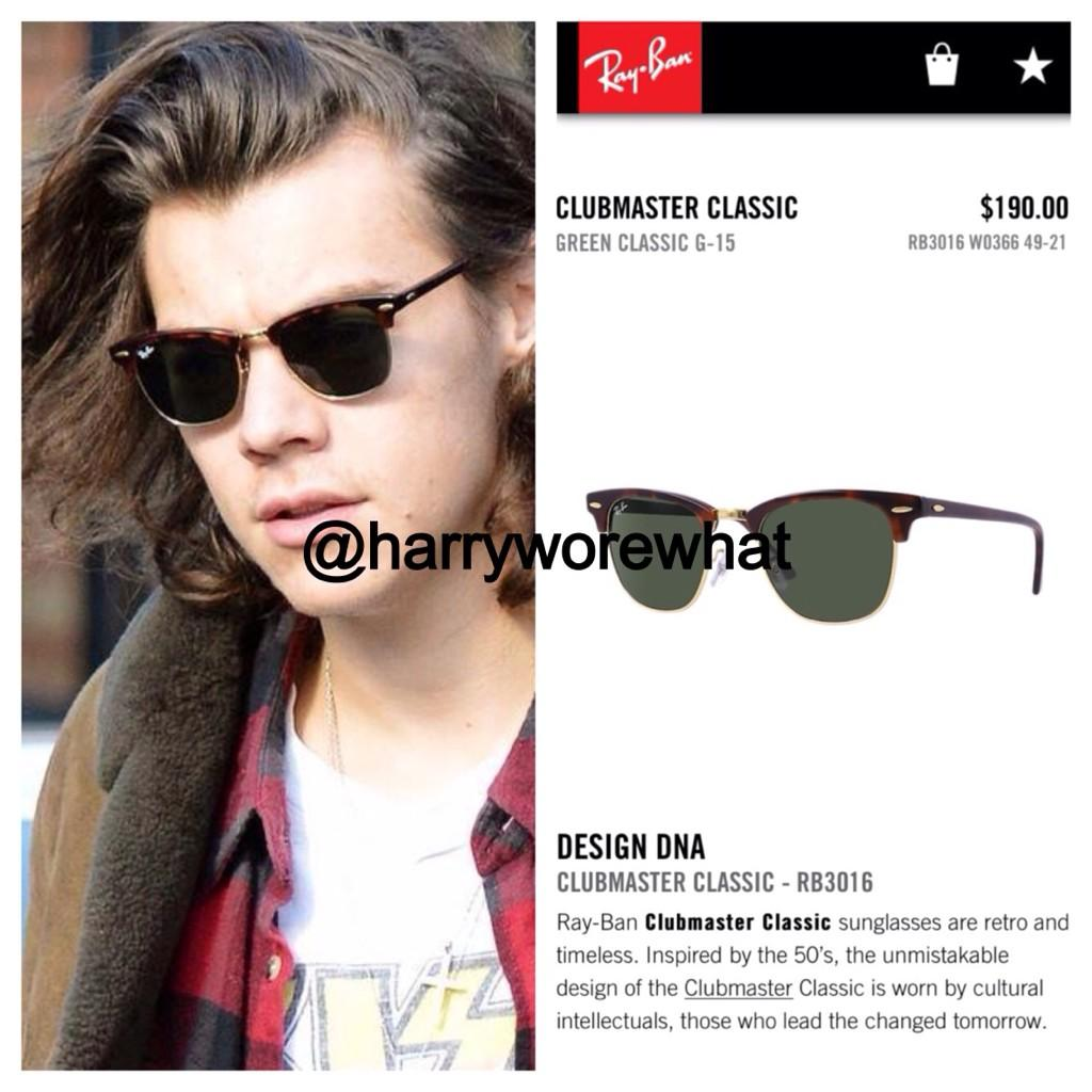 ray ban classic clubmaster  Harry Wore What on Twitter: \