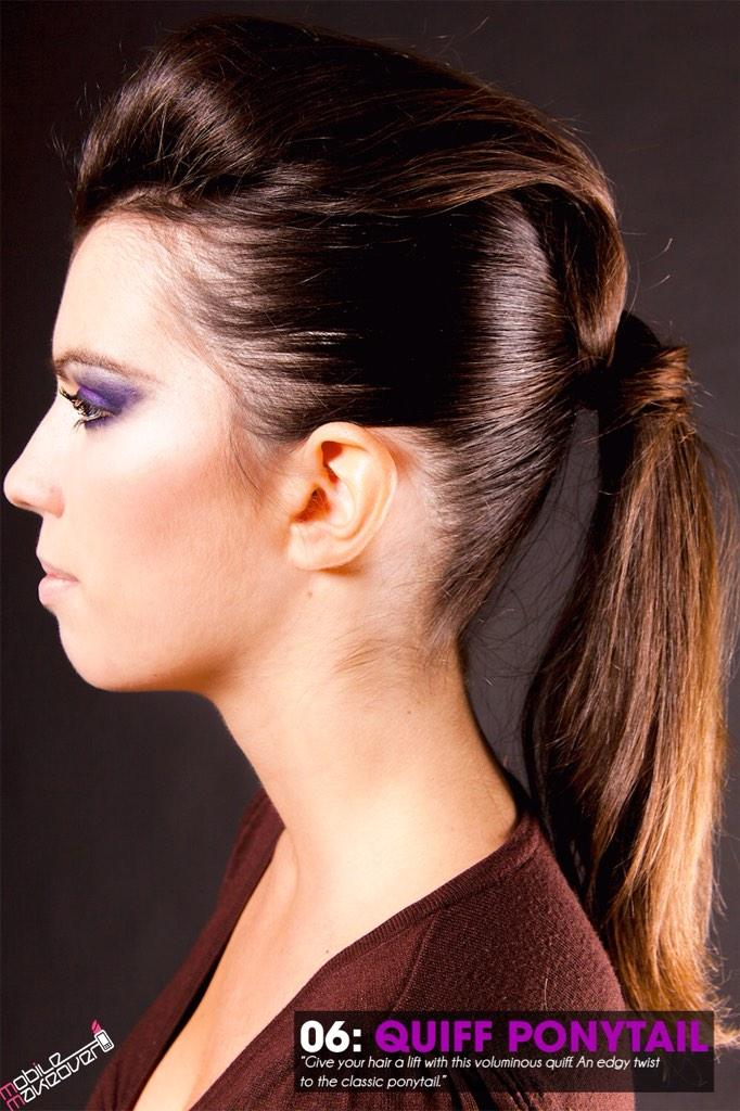 Mobile Makeover App On Twitter Quiff Ponytail Look Hairstyle