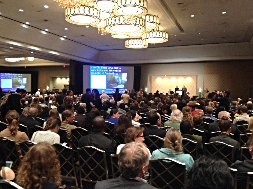 "Not surprisingly - Full house for ""Ebola Virus Hits West Africa"" session at #TropMed14 http://t.co/ZcXoo2OAcP"