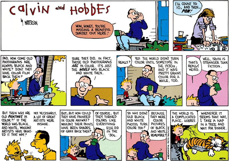 The history of photography, by Calvin's father. Calvin isn't convinced, are you? http://t.co/AsooBYqhPp