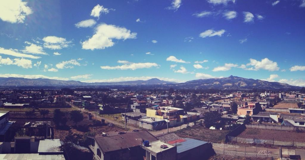 enjoying the view from the roof of our library and community center! #mpiecuador #dayinthelife @mannaproject http://t.co/rEYipeagiM