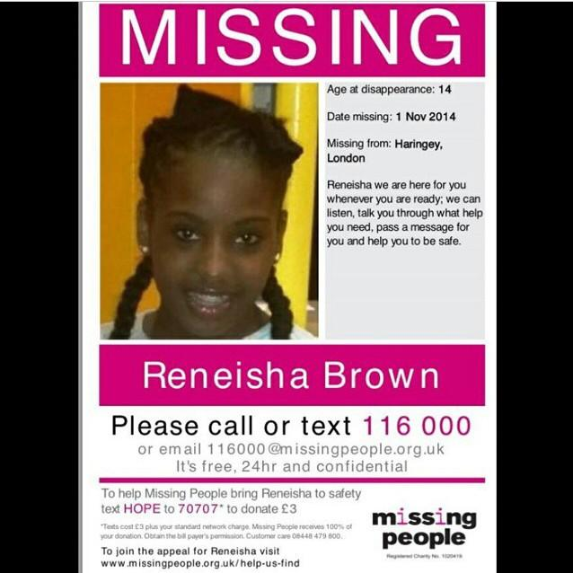 Please retweet and get Reneisha back home