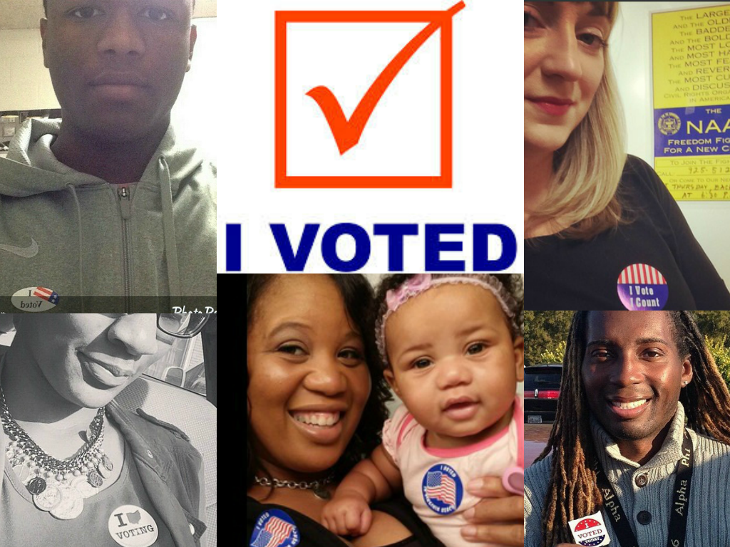 Voters across the country are sharing their #iVote selfies with us today. Tag us in your #iVote sticker photos. http://t.co/9roOEzP6is