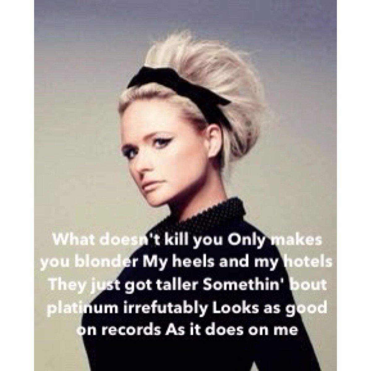 Listening to some kick ass country from @mirandalambert - miss ya girl, have fun tomorrow! #blondessticktogether