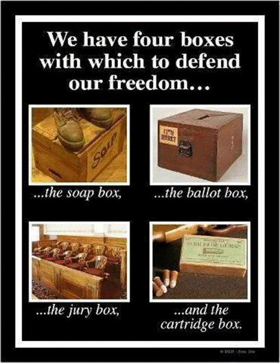 Image result for ballot box ammo box