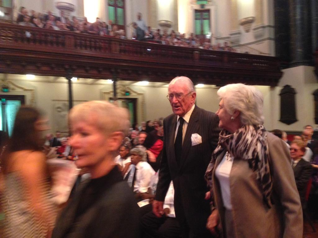 Former PM Malcom Fraser has arrived for Gough Whitlam's memorial. #9Newscomau http://t.co/3K7G8EYHas