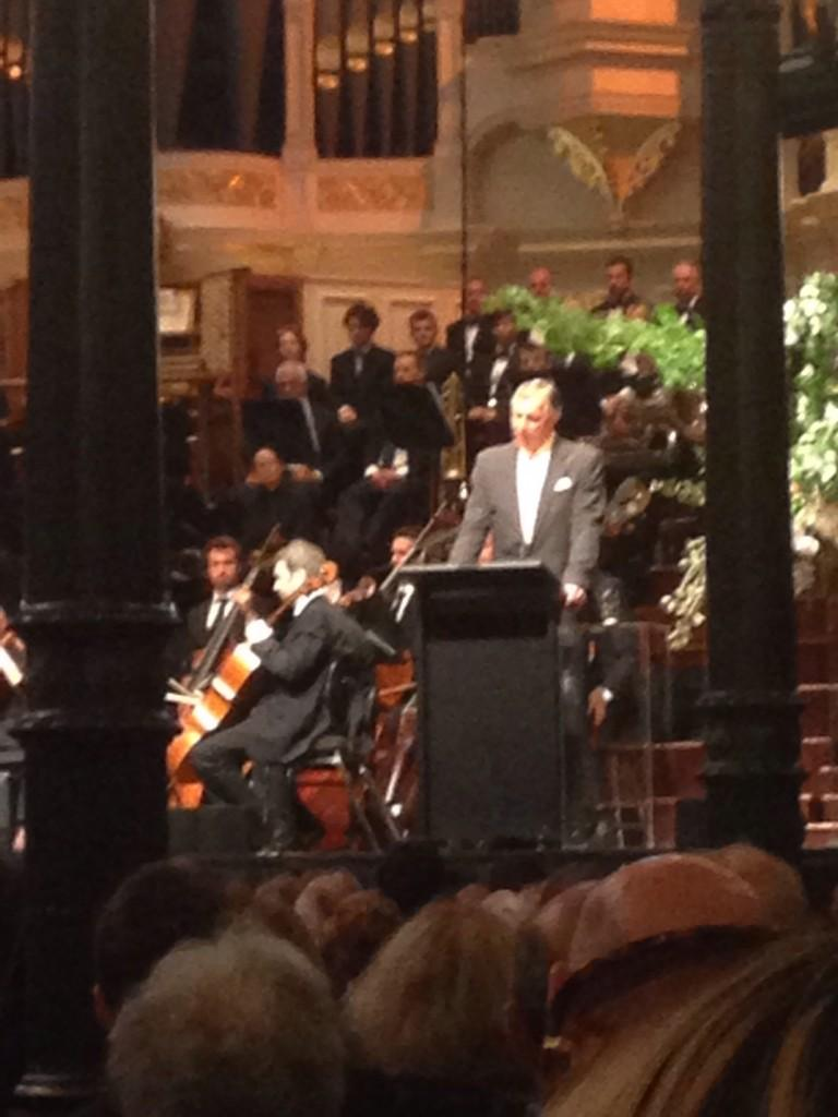 Touching reflections frm #Gough 's eldest son The Hon A. Whitlam QC #goughmemorial http://t.co/c8SX28jpvv