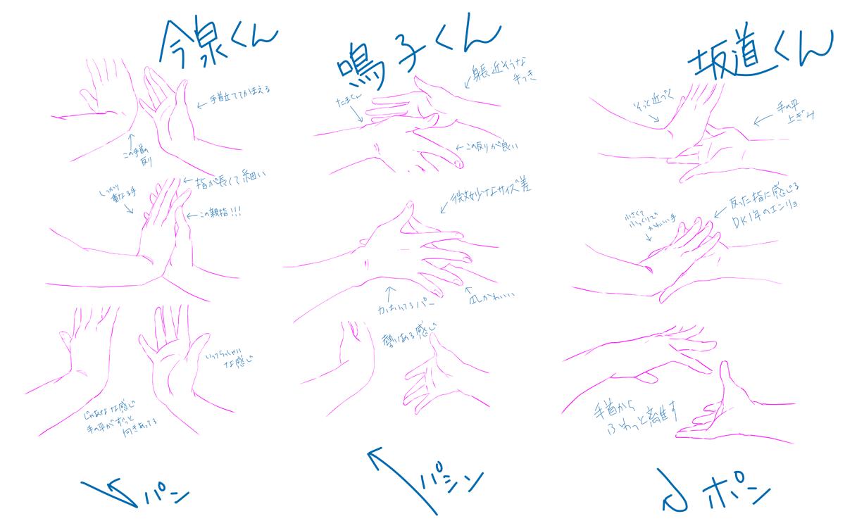 アニペダ5話、総北6人が幹ちゃんと手を合わせる場面における6人それぞれの個性が素晴らしい件(画面写メをトレスしてます)