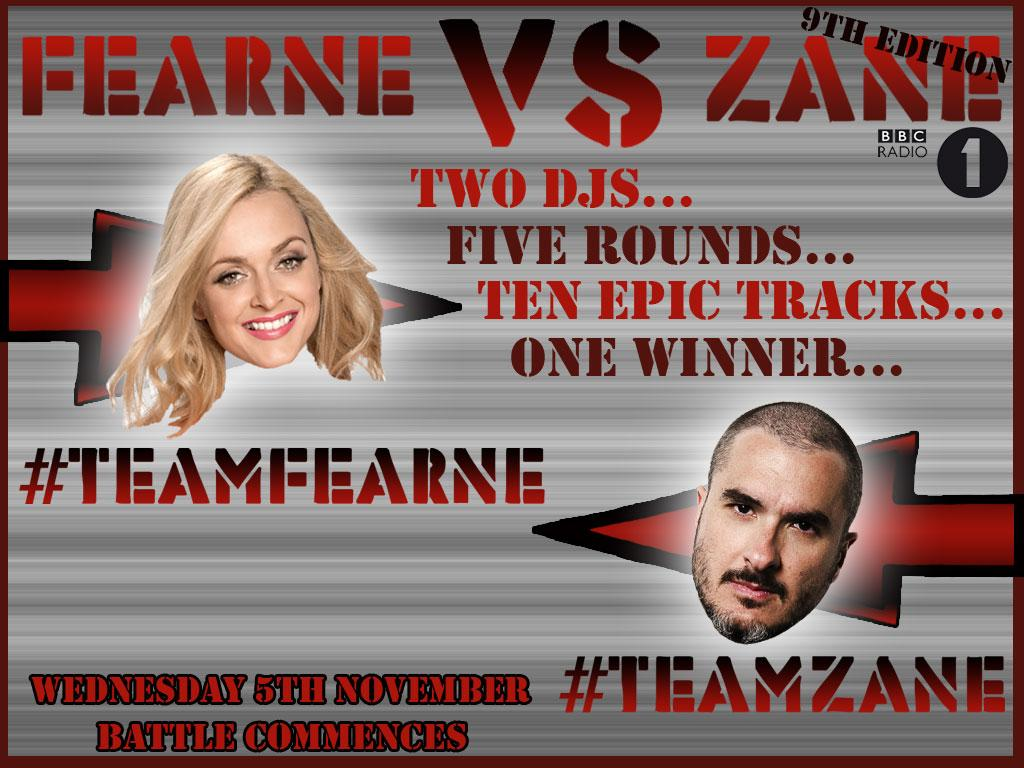 RT @BBCR1: At midday today, battle will commence! #TeamFearne or #TeamZane, who are you backing? http://t.co/C5Ikhiasyo