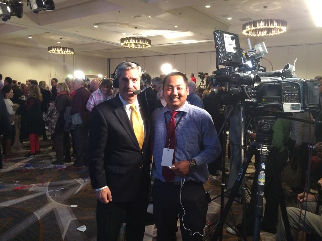 With @AMiller_KMGH  @ GOP election HQ... waiting to find out will be Colorado's next governor.  Love election night! http://t.co/kZ7gXD5tTk