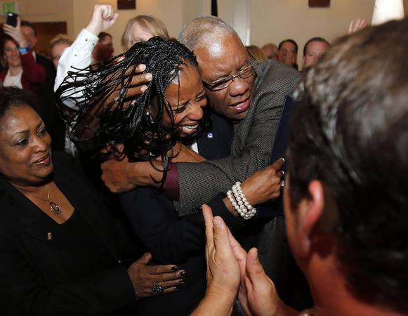 Love, love this pic of @MiaBLove & her father as her victory became apparent. *This* is what tonight looks like! http://t.co/mt0MOoU4v3