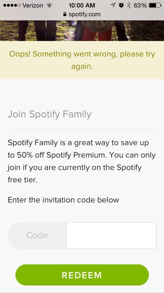 Ashley On Twitter Spotify Is Spotify Family Not Working Get This